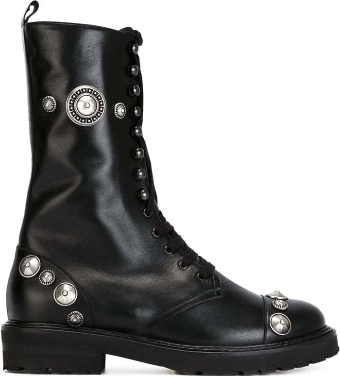 Fausto Puglisi Studded Lace-Up Boots