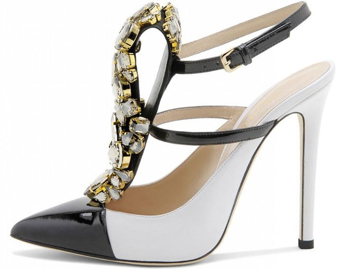 Gedebe-Mimi-Crystal-Embellished-Black-White-Pumps