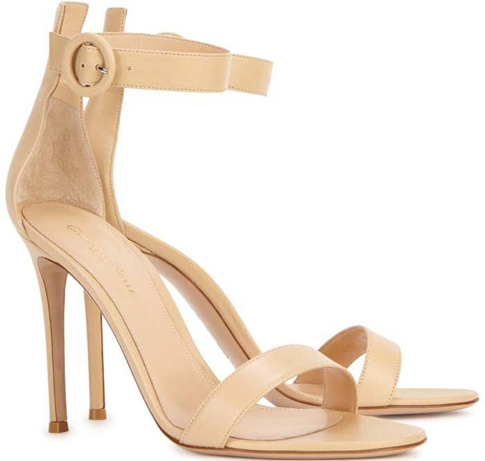 Gianvito Rossi 'Portofino' Nude Calf Leather Sandals
