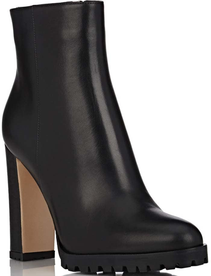Gianvito Rossi Leather Side-Zip Ankle Boots