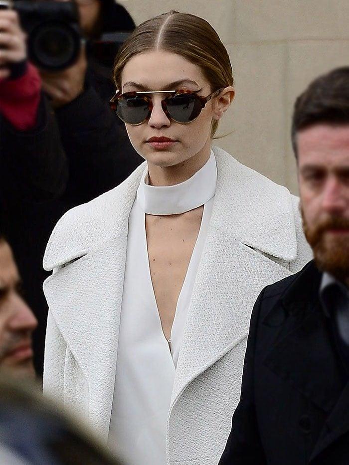 Gigi Hadid Chanel Couture fashion show 1