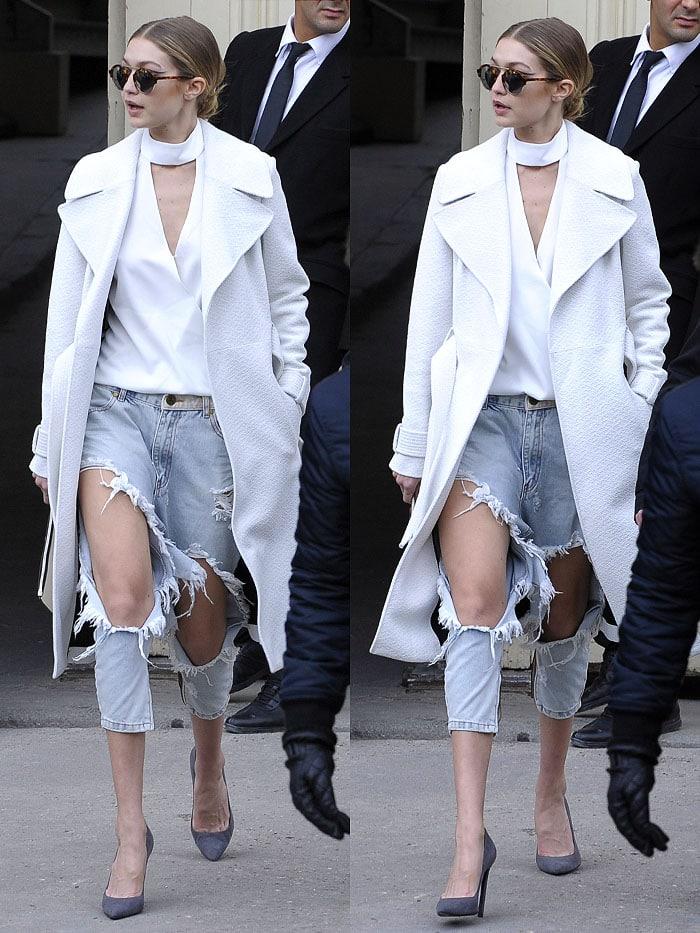 Gigi Hadid Chanel Couture fashion show