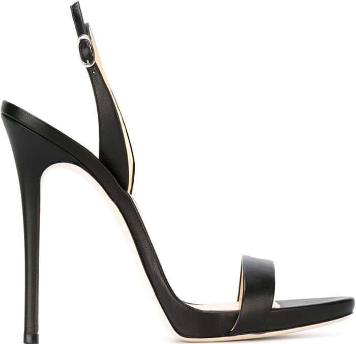 Black Giuseppe Zanotti Sophie Slingback Sandals