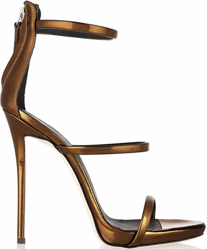 Giuseppe-Zanotti-Bronze-Triple-Strap-Sandals