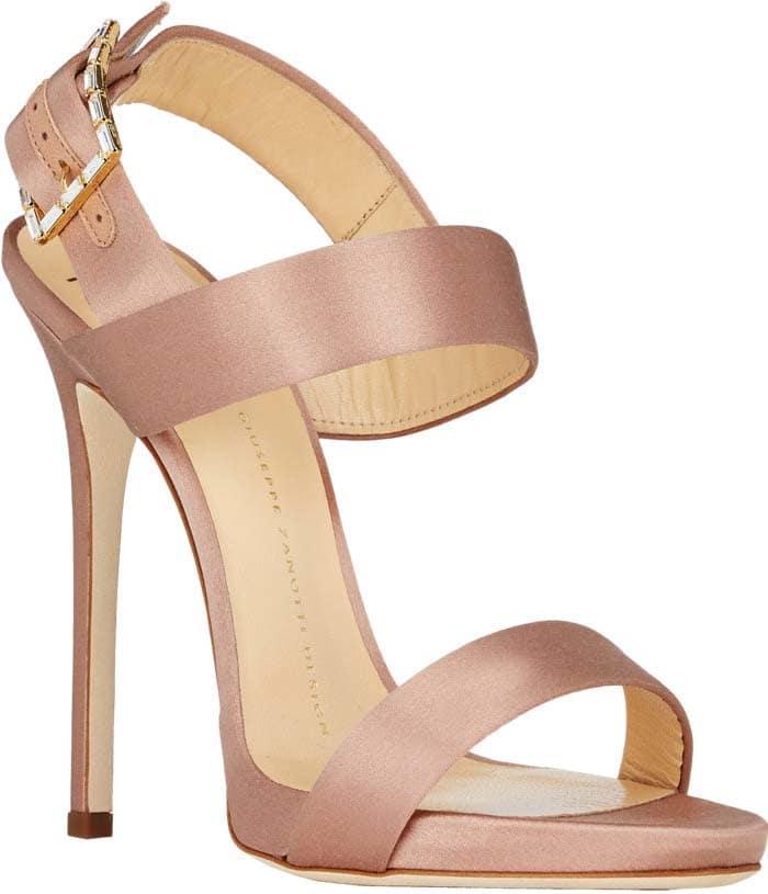 Giuseppe Zanotti Jeweled Buckle Double-Band Sandals