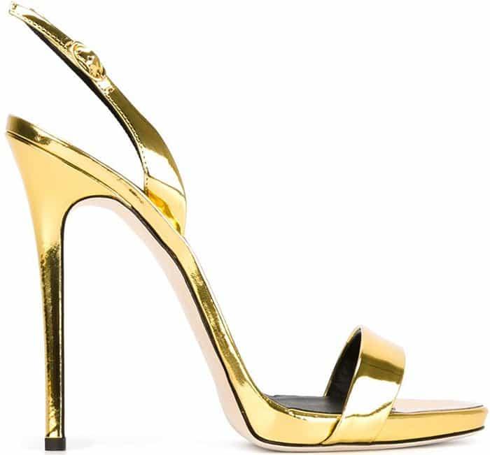Gold Giuseppe Zanotti Sophie Slingback Sandals