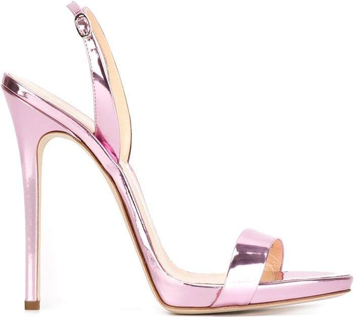 Pink Giuseppe Zanotti Sophie Slingback Sandals