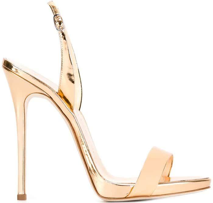 Rose Gold Giuseppe Zanotti Sophie Slingback Sandals