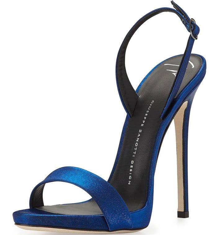 Electric Blue Giuseppe Zanotti Sophie Slingback Sandals