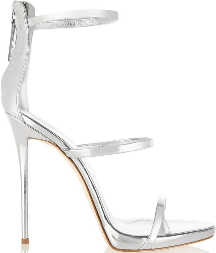 Giuseppe-Zanotti-Silver-Metallic-Triple-Strap-Sandals