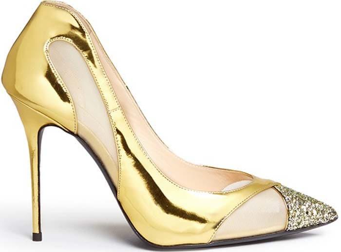 Giuseppe Zanotti 'Lucrezia' Pumps in Gold
