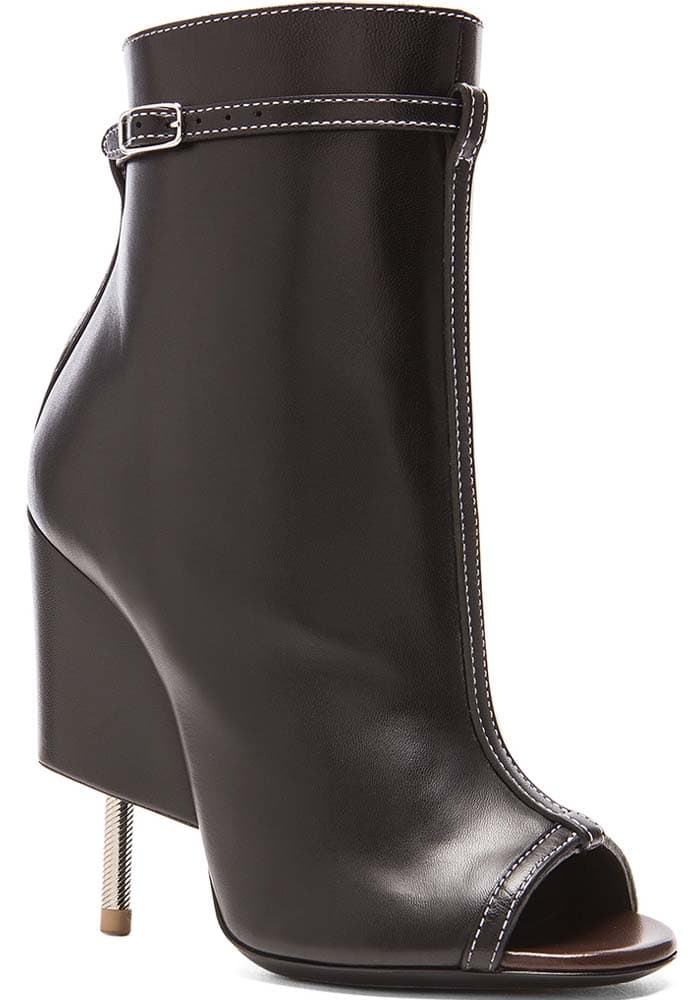 Givenchy Open Toe Runway Leather Booties