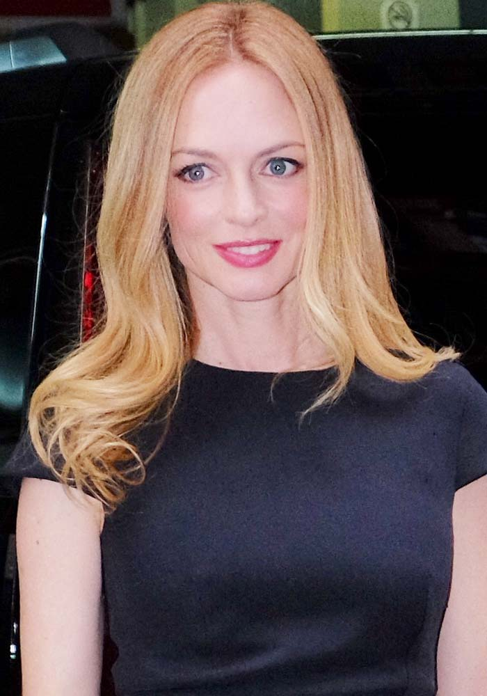 Heather Graham wears her hair down as she arrives in Manhattan for an AOL appearance