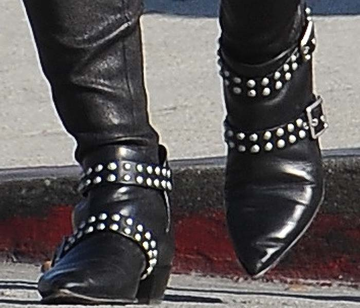 Hilary Duff wears a pair of studded Marc by Marc Jacobs boots