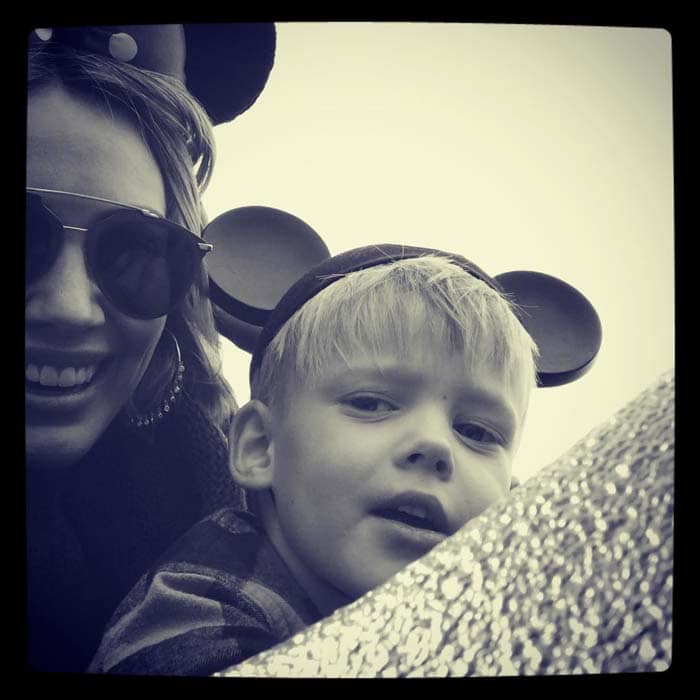 Hilary Duff shares a picture on Instagram of her son Luca Cruz Comrie