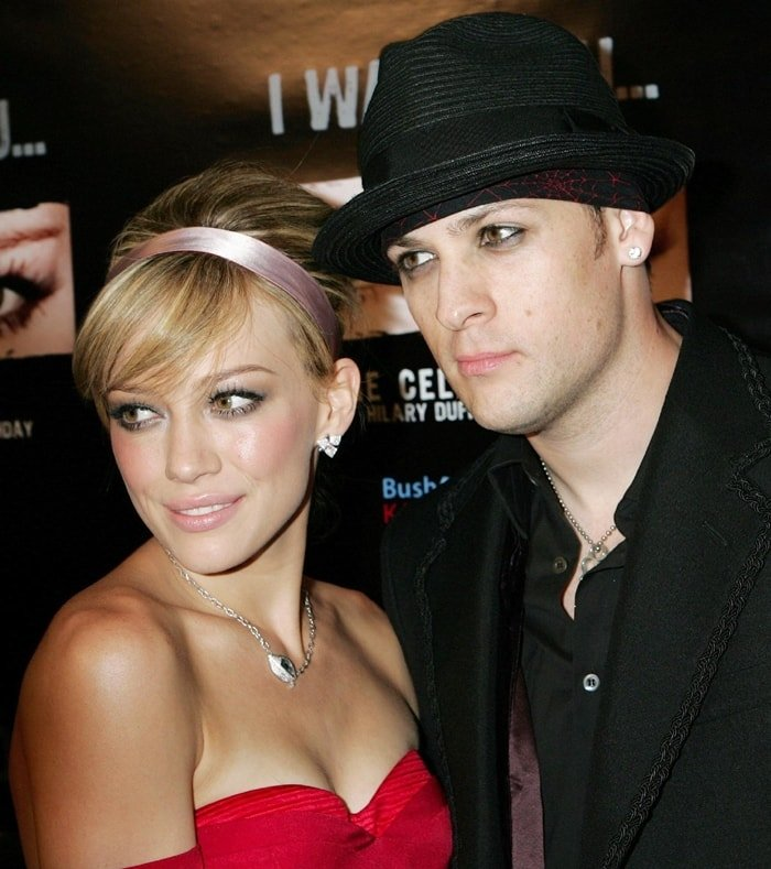 Hilary Duff and Joel Madden during Hilary Duff's 18th birthday party