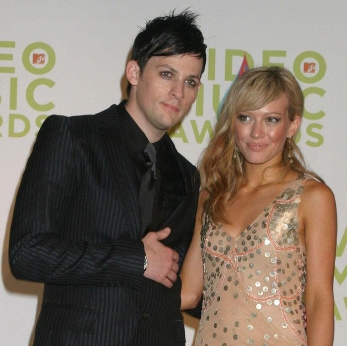 Hilary Duff and her boyfriend Joel Madden of Good Charlotte during the 2005 MTV Video Music Awards
