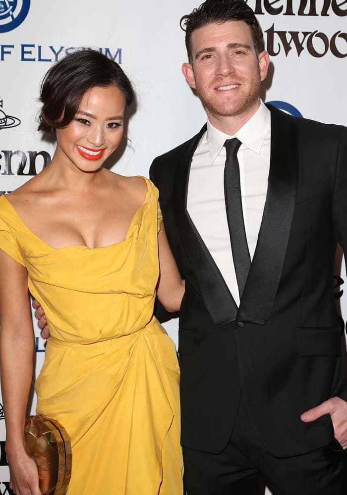 Jamie Chung and husband Bryan Greenberg wear Vivienne Westwood ensembles on the red carpet