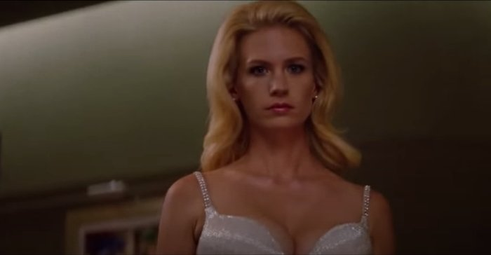 January Jones as mutant telepath Emma Frost in X-Men: First Class