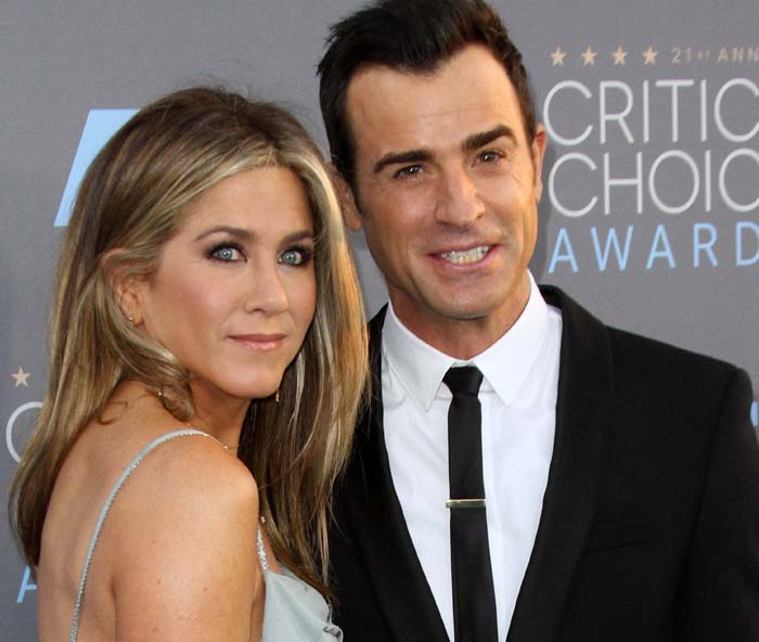 Jennifer Aniston and husband Justin Theroux at the 21st Annual Critics' Choice Awards in Santa Monica on January 17, 2016