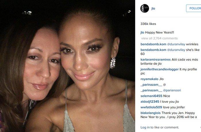 Jennifer Lopez celebrates New Year's Eve