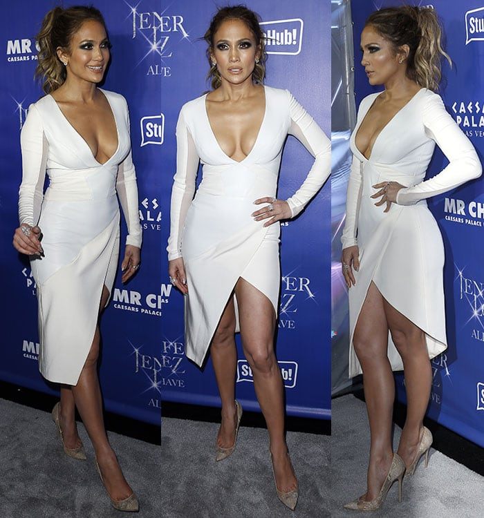 Jennifer-Lopez-legs-cleavage-plunging-white-dress
