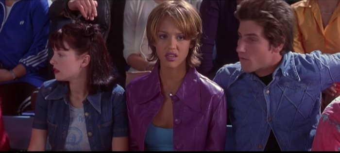 Jessica Alba turned 17 on the set of Never Been Kissed
