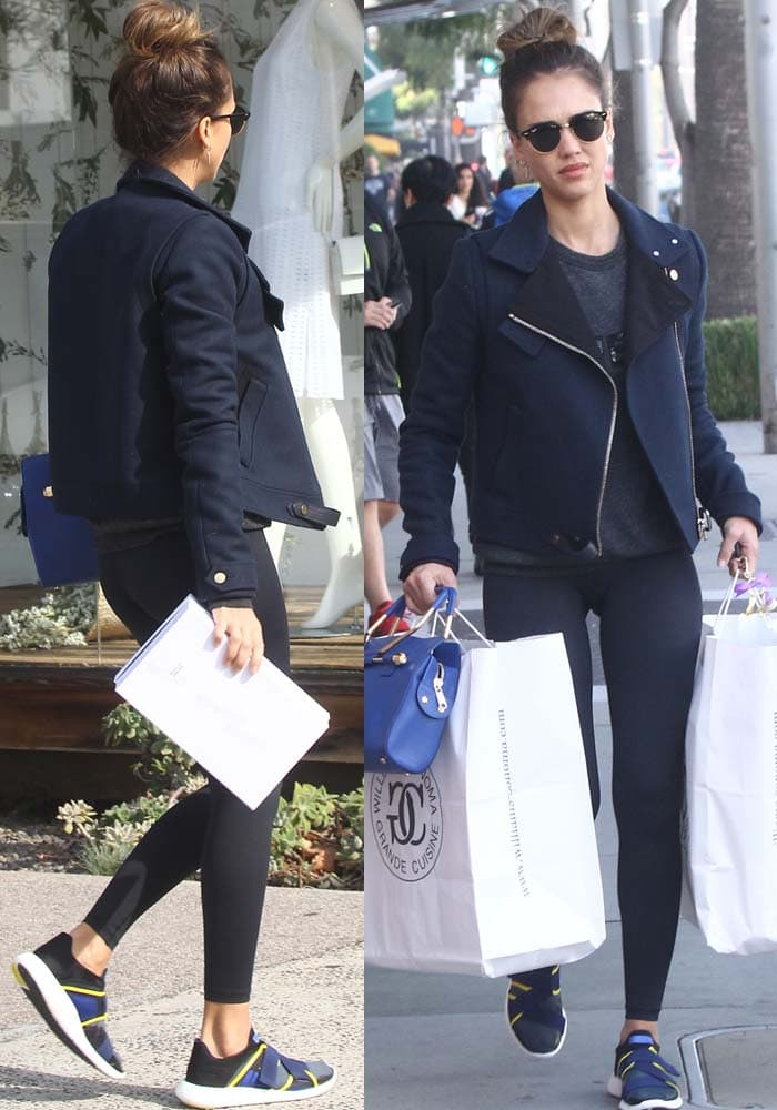 Jessica Alba Shopping Homeware Velcro Sneakers 2