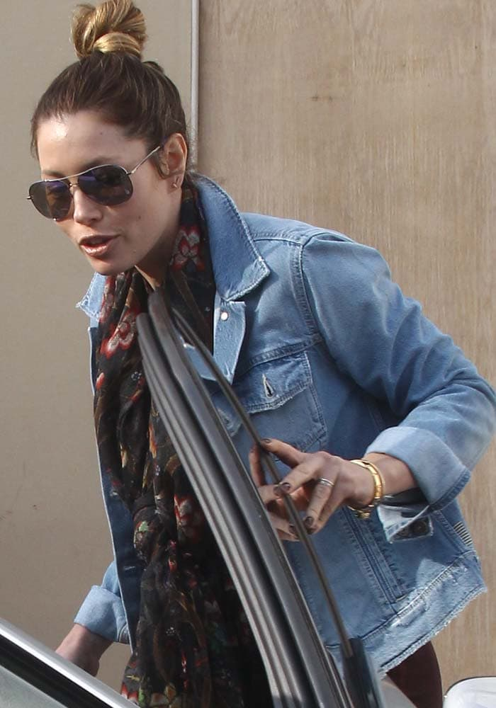 "Jessica Biel visits her restaurant ""Au Fudge"" in Los Angeles"