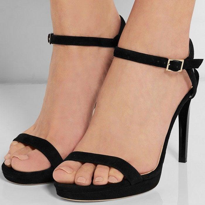 Jimmy Choo Claudette suede platform sandals