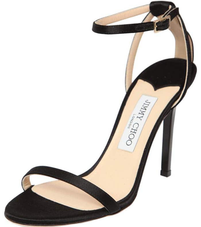 Jimmy Choo 100mm Minny Silk Satin Sandals