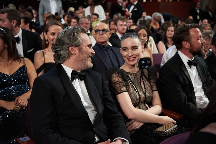 Joaquin Phoenix and Rooney Mara during the live ABC Telecast of the 92nd Annual Academy Awards