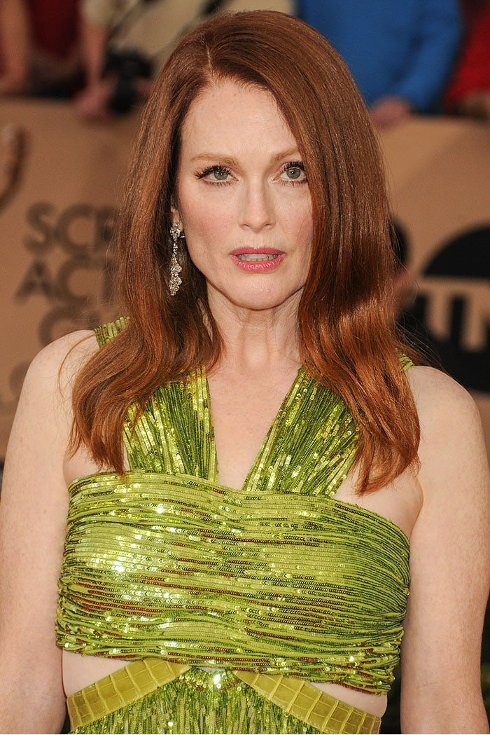 Julianne Moore wears her red hair down at the 22nd Annual Screen Actors Guild Awards