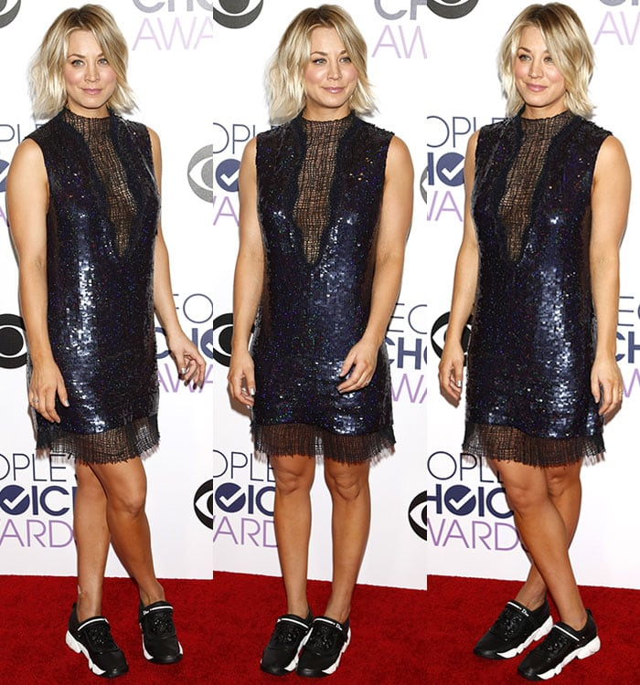 Kaley-Cuoco-Manning-Cartell-sequined-dress-sheer-net-panel