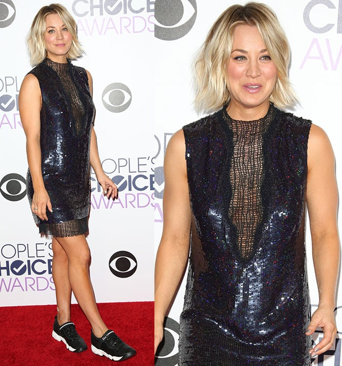 Kaley-Cuoco-Manning-Cartell-sequined-dress