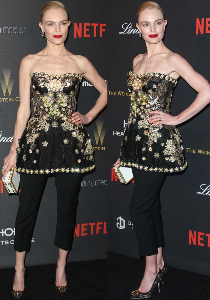 Kate Bosworth Golden Globes After Party Dolce Gabbana 2