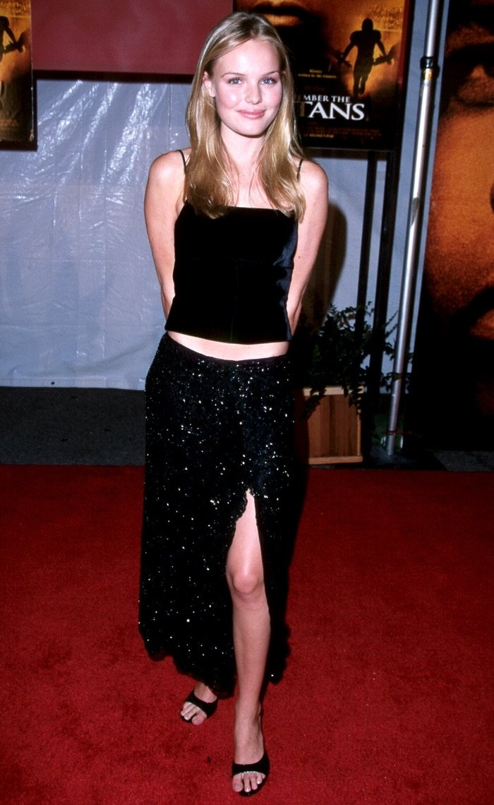 Kate Bosworth was 17-years-old when attending the red carpet premiere of Remember the Titans