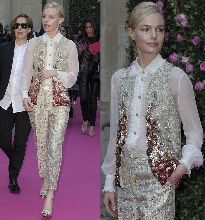 Kate-Bosworth-Schiaparelli-shirt-vest-pants