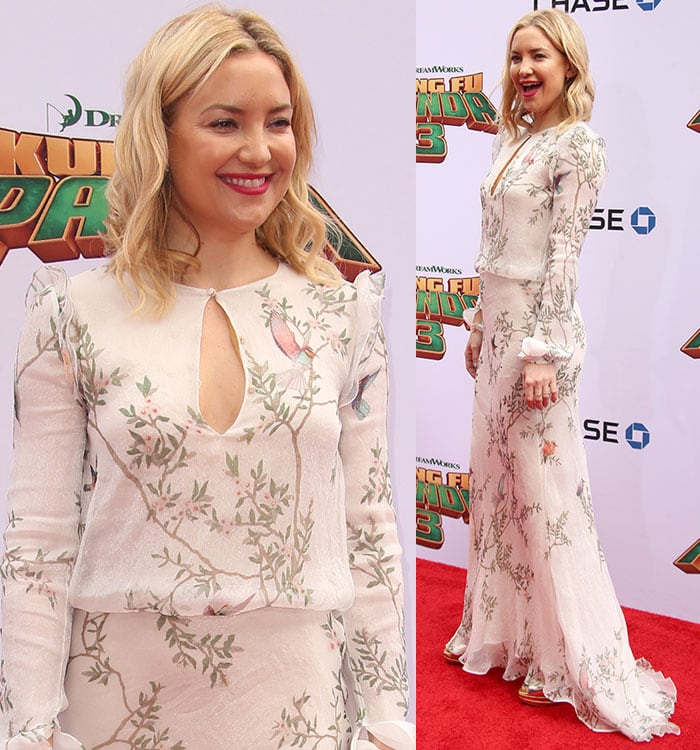 Kate-Hudson-white-floral-Monique-Lhuillier-dress