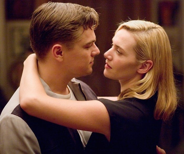 Leonardo DiCaprio and Kate Winslet as Frank and April Wheeler in the 2008 romantic drama film Revolutionary Road