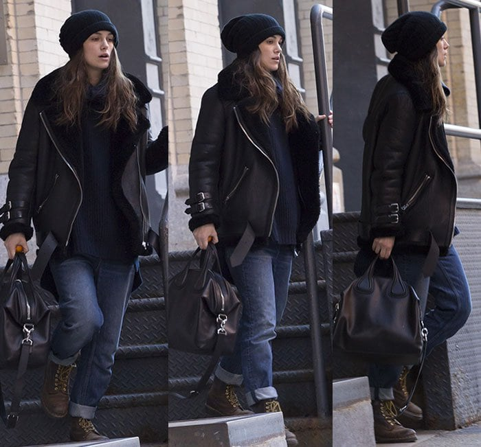 Keira Knightley departs for last day on Broadway in New York City