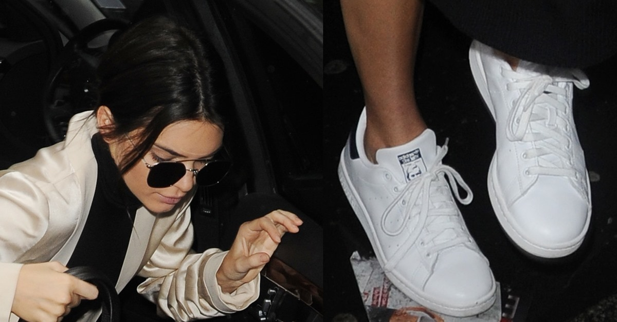 Kendall Jenner Steps Out In Adidas Stan Smith Sneakers To