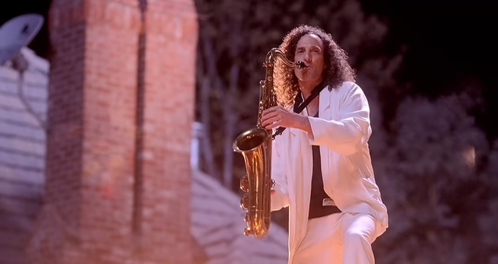 Kathy Beth Terry's favorite uncle, musician Kenny G, plays a saxophone solo on the roof in the music video for Last Friday Night (T.G.I.F.)