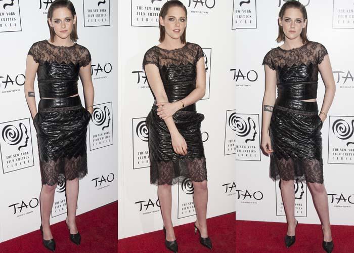Kristen Stewart wears a Chanel pre-fall 2016 look on the red carpet