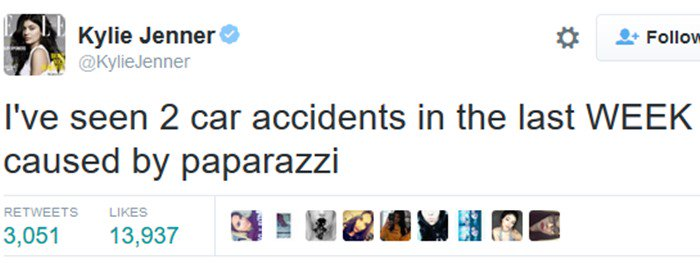 Kylie Jenner calls out disrespectful paparazzi on Twitter