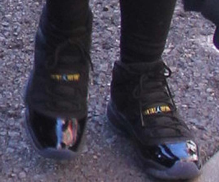Kylie Jenner wears Nike Air Jordan 11 Retro shoes in gamma blue