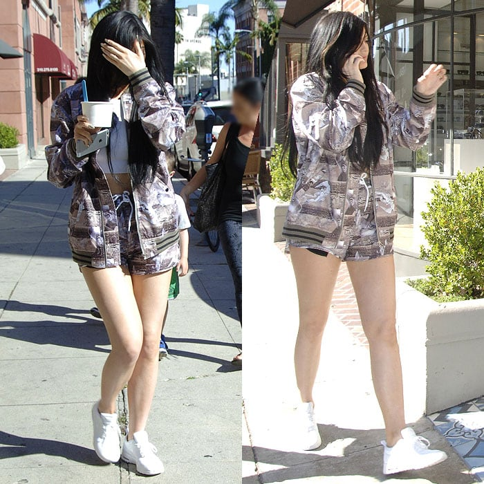 Kylie Jenner white sneakers