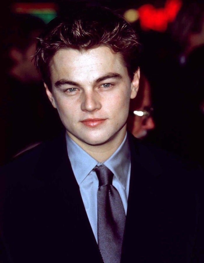 Leonardo DiCaprio at the Los Angeles premiere of 'Titanic' on December 14, 1997