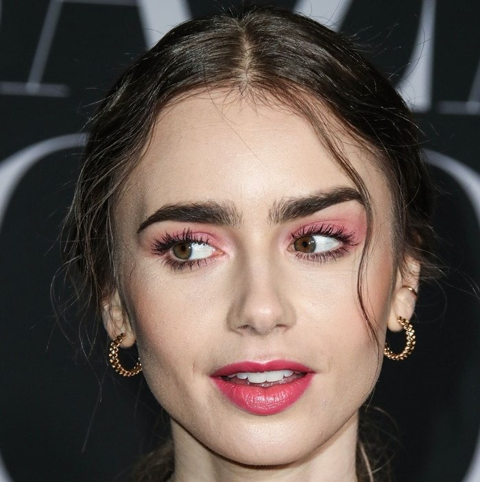 Lily Collins is famous for her prominent and unique eyebrows