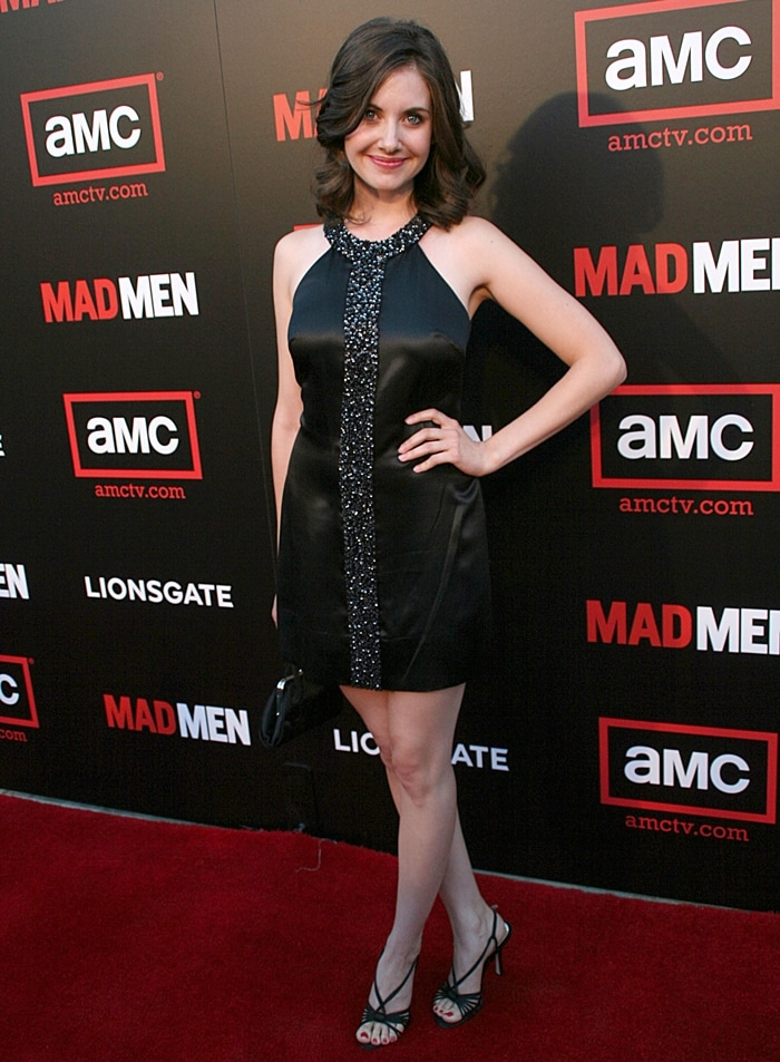 Actress Alison Brie attends the premiere of Mad Men - Season 2